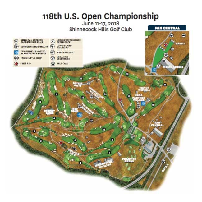 Las Colinas de Shinnecock esperan por 5ta vez el US Open
