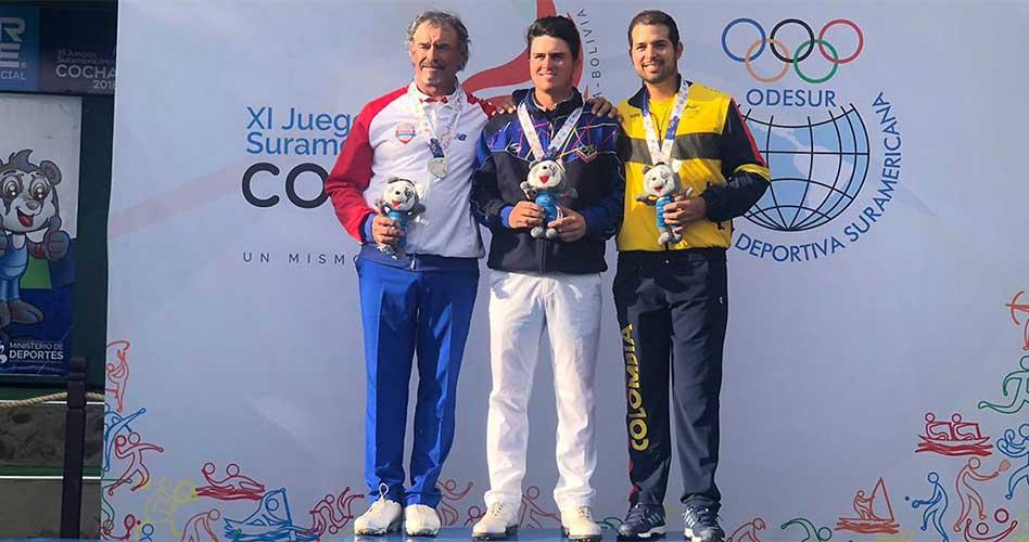 Santiago Gómez, con el bronce, cerró el podio de la categoría masculina