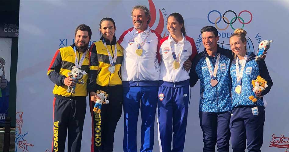En la categoría por equipos mixtos, Moreno y el risaraldense Daniel Zuluaga lograron la plata