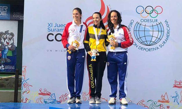 Paola Moreno se cubrió nuevamente de oro, en los Juegos Suramericanos Cochabamba 2018