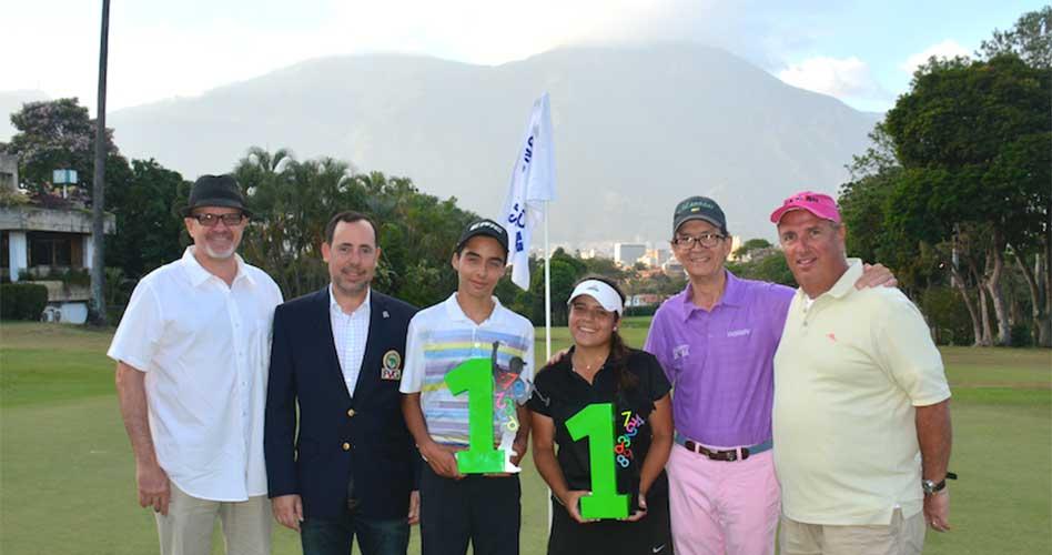 Paz y Perazzo campeones en primer Abierto Sambil Juvenil de Golf