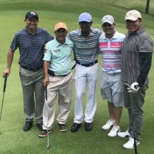 Profesor Pinilla de cumpleaños de golf