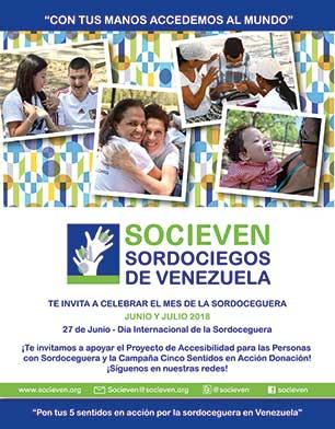 SOCIEVEN te invita a celebrar el mes de la Sordoceguera