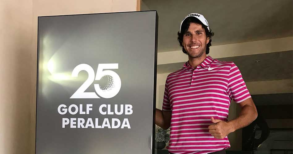 Xavi Puig, ganador de la segunda prueba del Catalunya Pro Tour 2018 celebrada en Golf Peralada