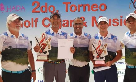 Bonelly y Dumé, campeones torneo Golf, Cigar and Music 2018