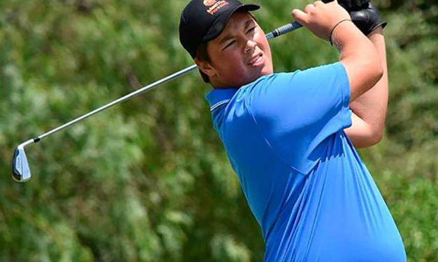 Gran inicio del argentino Abel Gallegos en el The Junior Open Championship este lunes