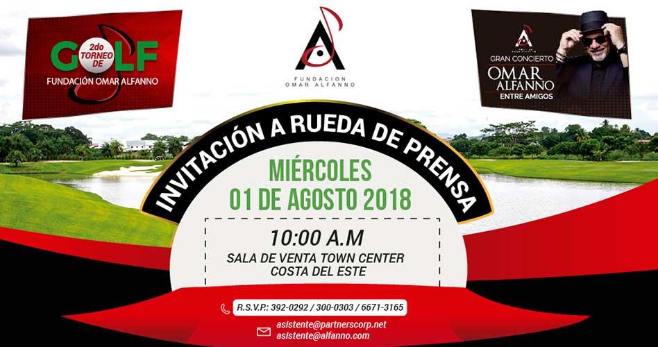 Invitación a rueda de prensa: 2o Torneo de Golf Fundación Omar Alfanno