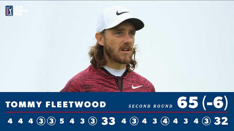 Cuatro estadounidenses e inglés Fleetwood en el Top-5