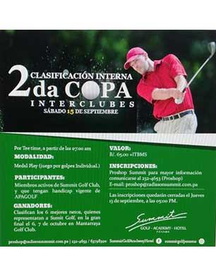 2a Copa Interclubes Clasificación Interna, sábado 15 de septiembre