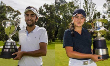 Juan Francisco Mejía y María José Bohórquez, los campeones Nacionales de golf