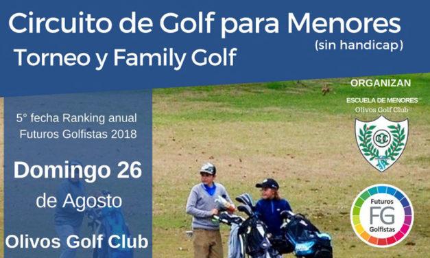 Nuevo Torneo y Family Golf para Menores sin Handicap en el Olivos Golf Club