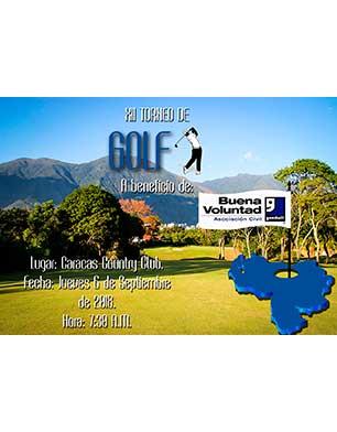 XII Torneo de Golf a beneficio de Buena Voluntad Asociación Civil. Caracas Country Club, jueves 6 de septiembre