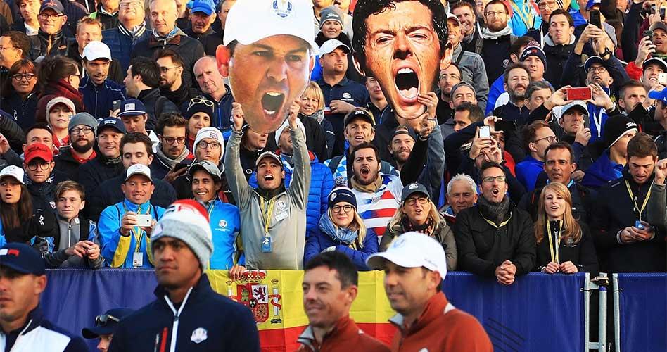 Europa sólido 5 a 3 sobre USA en Le Golf National