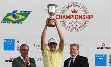 ¡Gran campeón! Nicolás Echavarría se coronó en el Sao Paulo Golf Championship
