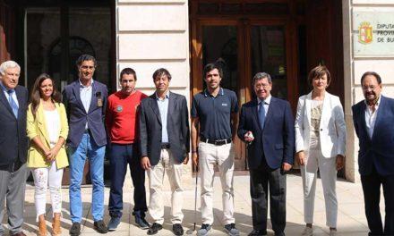 Javier Ballesteros da el Golpe inaugural del XXXI Campeonato PGA de España en Riocerezo
