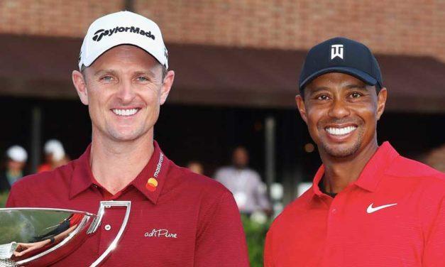 Tiger Woods y Justin Rose: dos historias, un camino