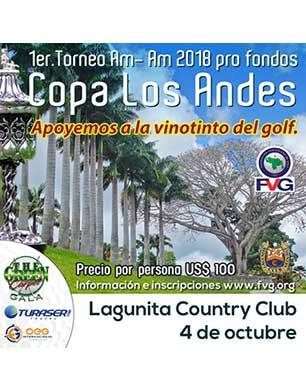 1er Torneo ProAm 2018 pro fondos Copa Los Andres. 4 de Octubre, Lagunita Country Club