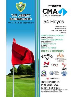 VIII Abierto Barquisimeto. Del 27 al 29 de septiembre. Barquisimeto Golf Club