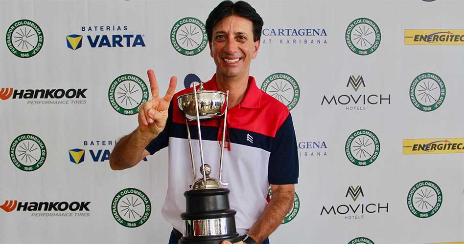 Israel Bahar, bicampeón del Nacional Mid-Amateur