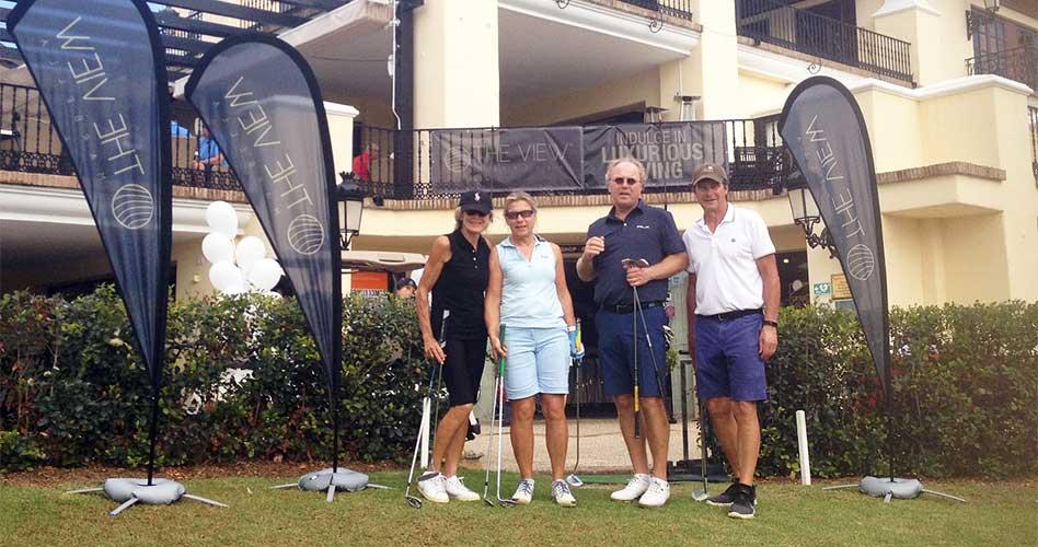 Algunos participantes del torneo The View Marbella en Los Naranjos Golf Club