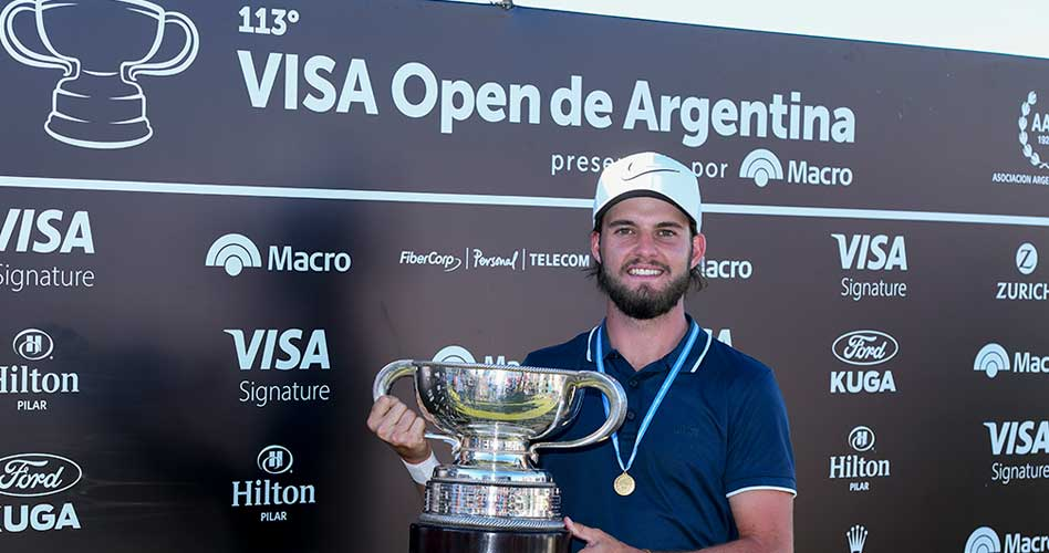 Benítez resultó imparable en el VISA Open de Argentina