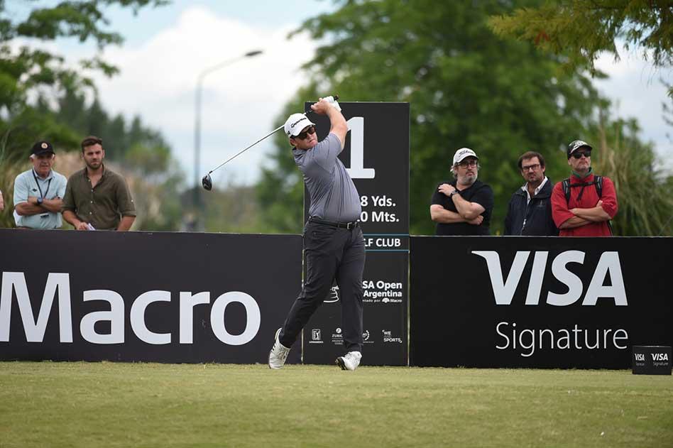 Harry Higgs (USA) quedó a cinco golpes del líder pero no pierde las ilusiones de quedarse con el VISA Open de Argentina