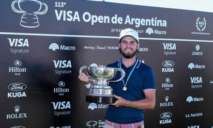 Isidro Benítez se quedó con el 113° VISA Open de Argentina presentado por Macro