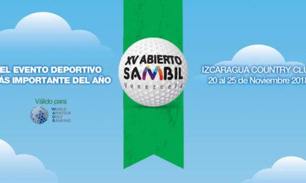 Todo listo para el XV Abierto Sambil en el Izcaragua Country Club