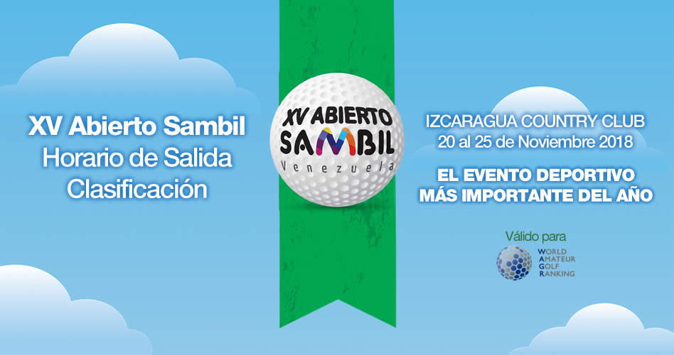 XV Abierto Sambil, Horario de Salida Clasificación