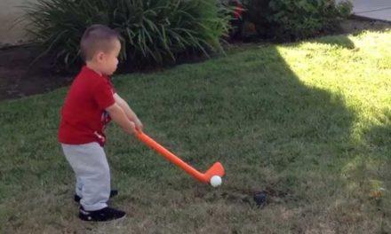 Video, alucinen con la evolución del swing de Jaden Soong, el niño que cogió los palos con 12 meses
