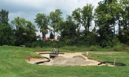 El arte de la eliminación de bunker de campos de golf