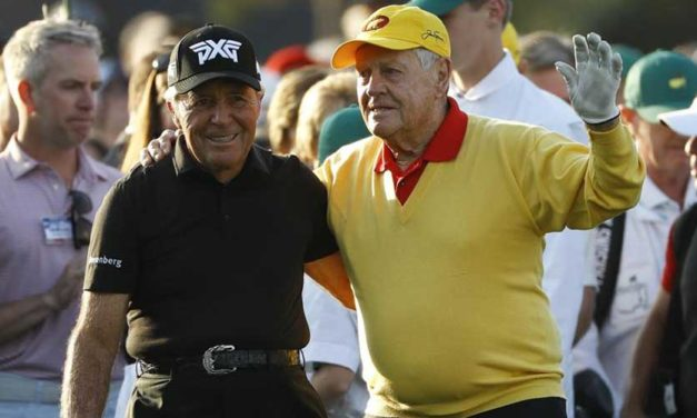 Jack Nicklaus y Gary Player abren de forma oficial el 83º Masters de Augusta