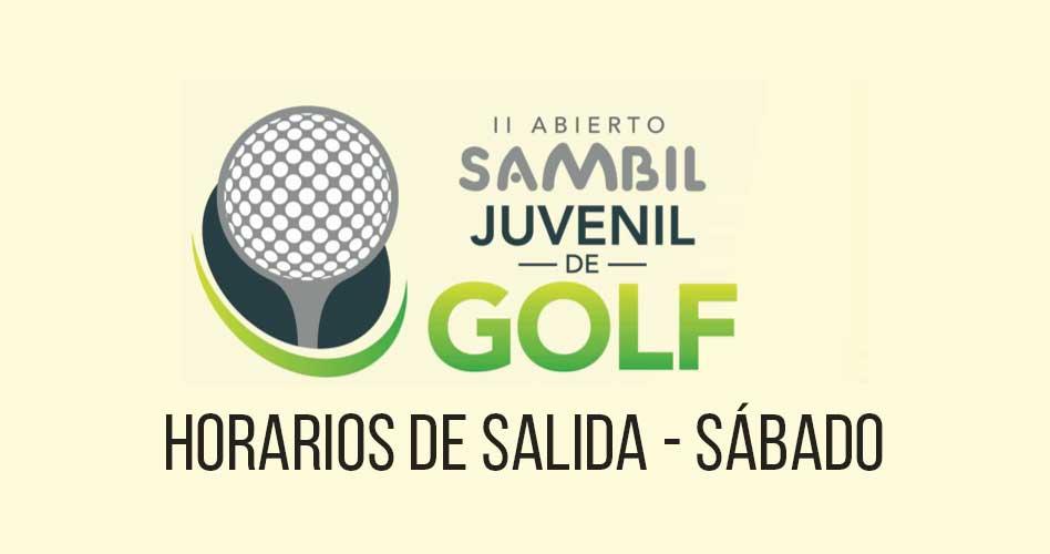 Horarios de salida día Sábado – II Abierto Sambil Juvenil de Golf