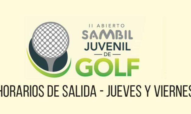 Horarios de Salida – II Abierto Sambil Juvenil de Golf