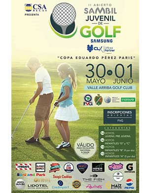 II Abierto Sambil Juvenil de Golf, Copa Eduardo Pérez París.30 de Mayo al 1º de Junio, Valle Arriba Country Club