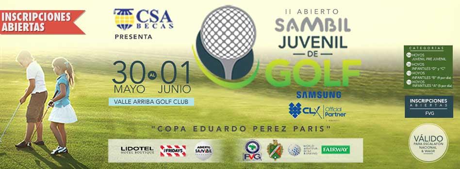 "II Abierto Sambil Juvenil de Golf ""Copa Eduardo Pérez París"" 30 al 31 de Mayo, Valle Arriba Golf Club"