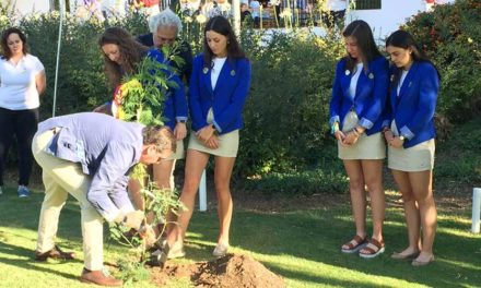 Un árbol homenajea a Celia Barquín durante el Campeonato de España de Federaciones Autonómicas Femenino
