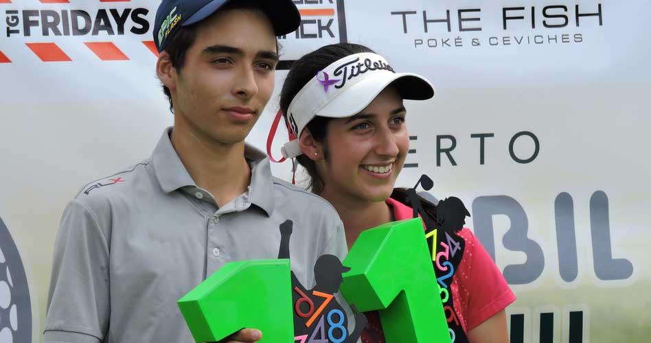 Virgilio Paz y Vanessa Gilly campeones en II Abierto Sambil Juvenil de Golf