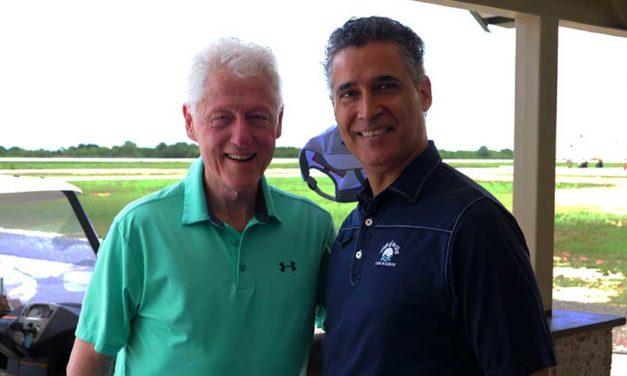 Bill Clinton, visita de lujo en Casa de Campo