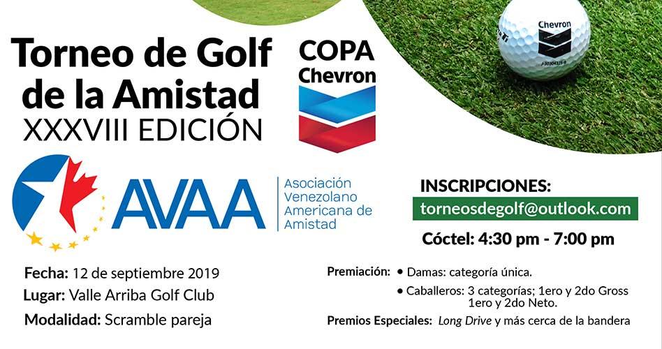 El XXXVIII Torneo de Golf de la Amistad AVAA 2019 se acerca