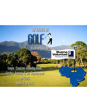 XII Torneo de Golf a beneficio de Buena Voluntad Asociación Civil, Caracas Country Club, 6 de septiembre