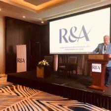 Mark Lawrie, Director The R&A para Latinoamérica y el Caribe, fue el anfitrión de la Conferencia Internacional. / Foto Gentileza: @rsgoconsultants