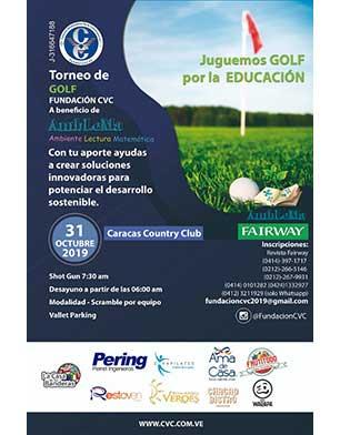 Torneo de Golf Fundación CVC a beneficio de AmbLeMa. Caracas Country Club, 31 de Octubre