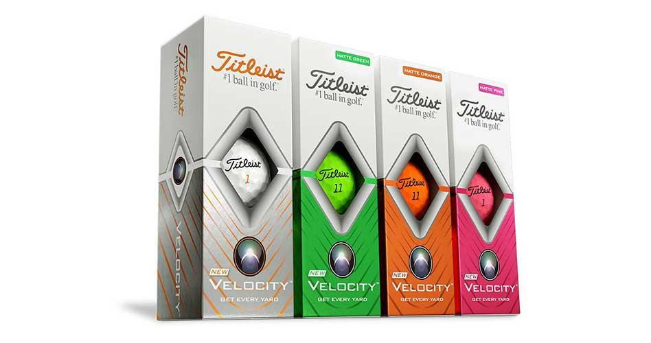 Titleist presenta la mejorada pelota de golf Velocity